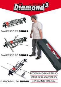 DIAMOND 3 75 SPIDER DIAMOND 3 90 SPIDER BEDIENUNGSANLEITUNG GEBRUIKSAANWIJZING OPERATING MANUAL DIAMOND SPIDER