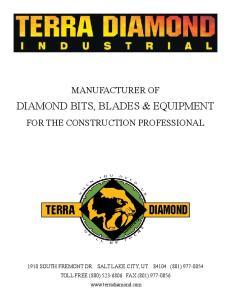 DIAMOND BITS, BLADES & EQUIPMENT