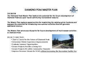 DIAMOND PEAK MASTER PLAN