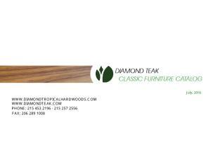 DIAMOND TEAK CLASSIC FURNITURE CATALOG