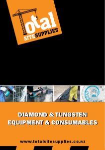 DIAMOND & TUNGSTEN EQUIPMENT & CONSUMABLES