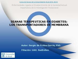 DIANAS TERAPEUTICAS EN DIABETES; LOS TRANSPORTADORES DE MEMBRANA