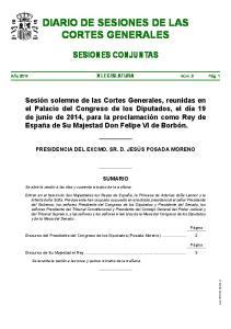 DIARIO DE SESIONES DE LAS CORTES GENERALES