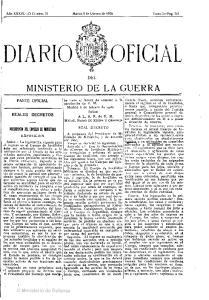 DIARIO MINISTERIO DE LA GUERRA. PBfSlDfJlOI DU CO