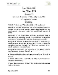 Diario Oficial (diciembre 24) por medio de la cual se modifica la Ley 75 de 1968