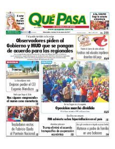 diarioquepasa Maracaibo, martes 24 de enero de 2017