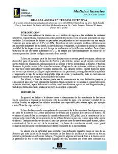 DIARREA AGUDA EN TERAPIA INTENSIVA