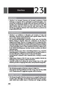 Diarrhea DEFINITION PATHOPHYSIOLOGY CLINICAL PRESENTATION DESIRED OUTCOME