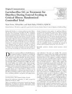Diarrhea is a common problem in critically ill patients