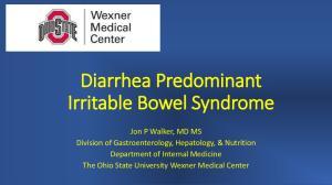 Diarrhea Predominant Irritable Bowel Syndrome