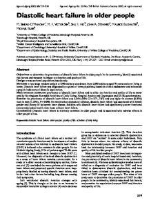 Diastolic heart failure in older people