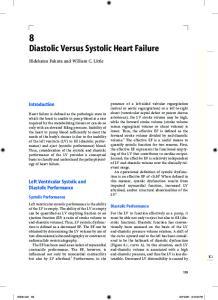 Diastolic Versus Systolic Heart Failure