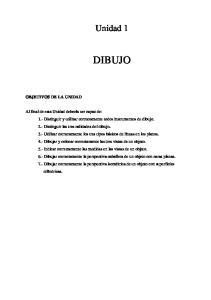 DIBUJO. Unidad 1 OBJETIVOS DE LA UNIDAD