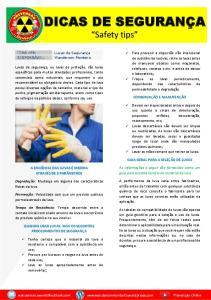 DICAS DE SEGURANÇA. Safety tips