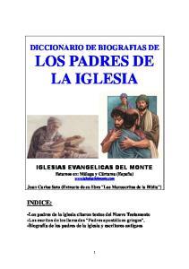 DICCIONARIO DE BIOGRAFIAS DE LOS PADRES DE LA IGLESIA