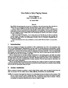 Dice-Rolls in Role-Playing Games