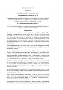 (diciembre 30) Diario Oficial No de 30 de diciembre de 2011 SUPERINTENDENCIA NACIONAL DE SALUD
