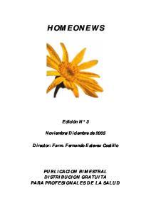 Diciembre de Director: Farm. Fernando Estevez Castillo