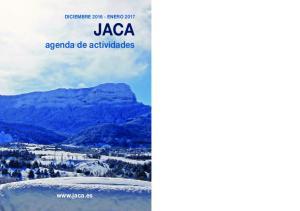 DICIEMBRE ENERO 2017 JACA agenda de actividades