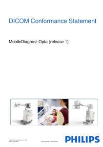 DICOM Conformance Statement. MobileDiagnost Opta (release 1)