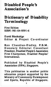 Dictionary of Disability Terminology