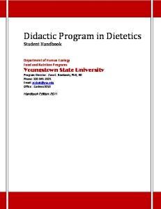 Didactic Program in Dietetics