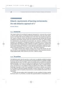 Didactic requirements of learning environments: the web didactics approach of L 3
