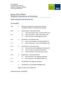 Didaktische Dimensionen der Christologie