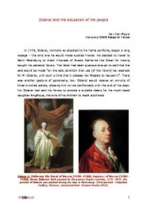 Diderot and the education of the people