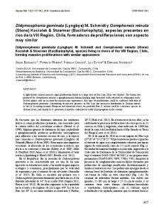 Didymosphenia geminata (Lyngbye) M. Schmidt y Gomphoneis minuta