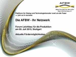 Die AFBW - Ihr Netzwerk
