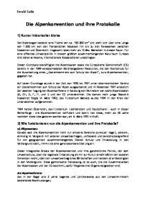 Die Alpenkonvention und ihre Protokolle