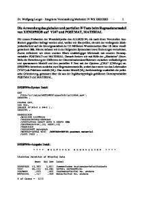 Die Anwendung des globalen und partiellen F-Tests beim Regressionsmodell