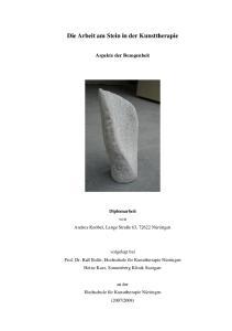 Die Arbeit am Stein in der Kunsttherapie