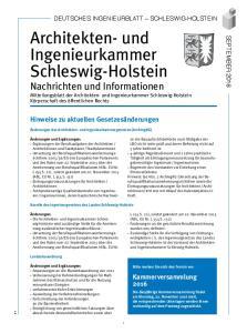 Die Architekten- und Ingenieurkammer Schleswig-Holstein