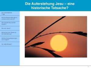 Die Auferstehung Jesu eine historische Tatsache?