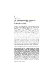 Die Aufgabenstellung des Gemeinsamen Bundesausschusses und die Rolle der Patientenvertretung