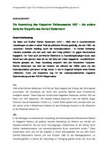 Die Ausmalung des Kappelner Rathaussaales 1937 die andere Seite der Biografie des Gerhart Bettermann