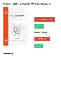 Die Balance-Methode in der Akupunktur PDF - herunterladen, lesen sie HERUNTERLADEN LESEN ENGLISH VERSION DOWNLOAD READ