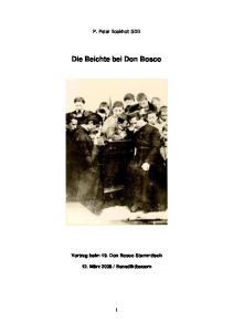 Die Beichte bei Don Bosco