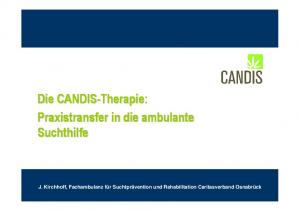 Die CANDIS-Therapie: Praxistransfer in die ambulante Suchthilfe