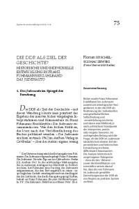 Die DDR als Ziel der Geschichte mit DIE DDR ALS ZIEL DER GESCHICHTE? Florian URSCHEL-