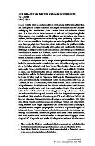 Die Debatte um Gender und Menschenrechte im Islam 143 Die Debatte um Gender und Menschenrechte im Islam Lise J. Abid