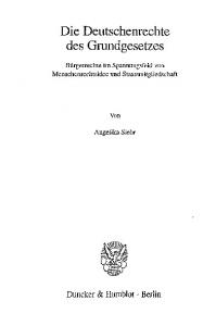 Die Deutschenrechte des Grundgesetzes
