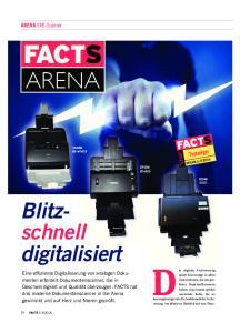 Die digitale Archivierung ARENA. Blitzschnell. digitalisiert. Testsieger. ARENA DMS-Scanner