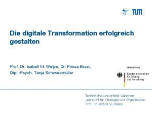 Die digitale Transformation erfolgreich gestalten