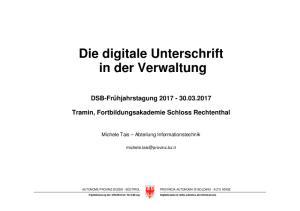 Die digitale Unterschrift in der Verwaltung