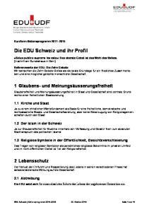 Die EDU Schweiz und ihr Profil