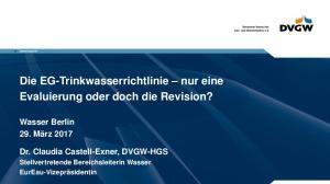 Die EG-Trinkwasserrichtlinie nur eine Evaluierung oder doch die Revision?