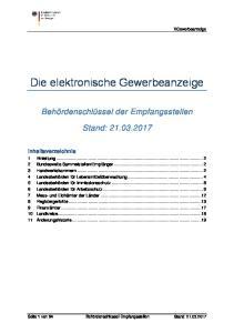 Die elektronische Gewerbeanzeige